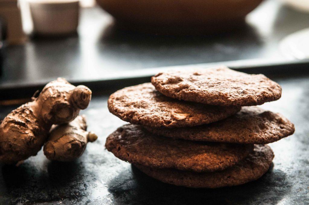 Ingefær- og mandelcookies - low FODMAP opskrifter