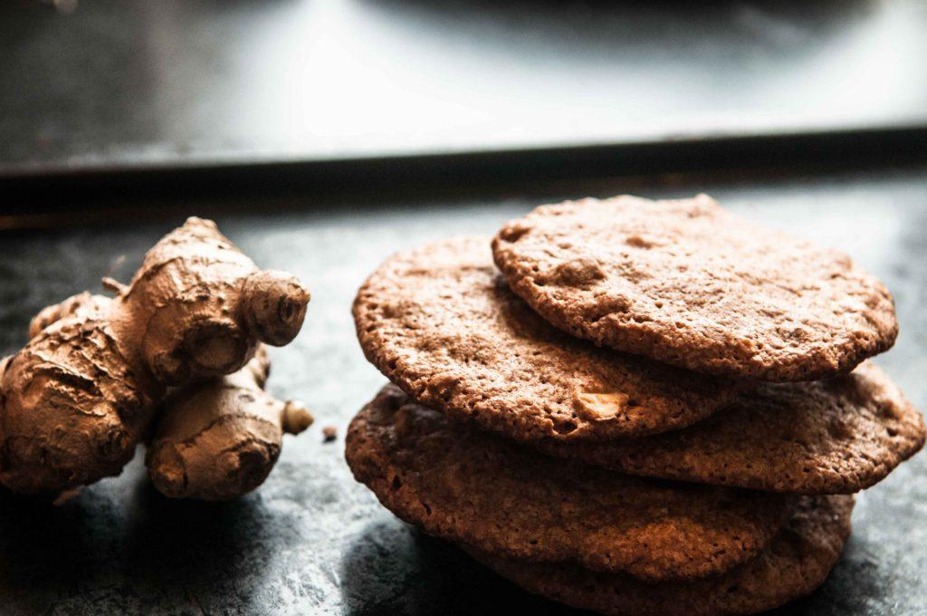Ingefær og mandelcookies - low FODMAP opskrifter